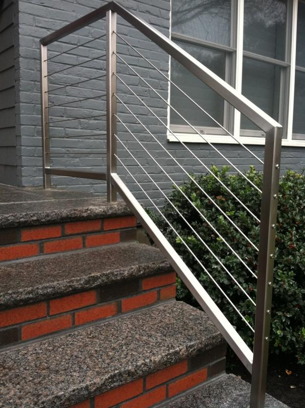 Corrimão de Inox para Escada Preço em Marapoama - Corrimão de Inox
