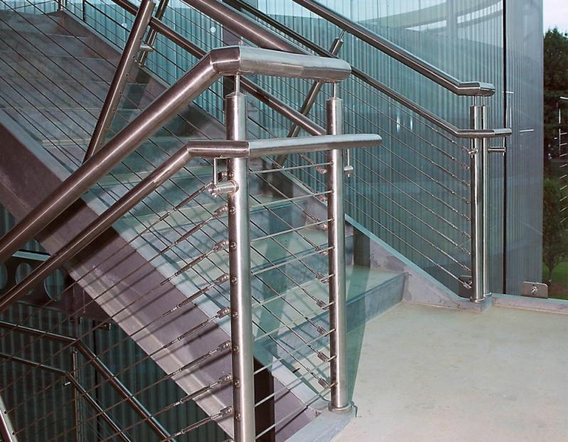 Corrimão de Inox para Escada Quanto Custa Jardim Santa Terezinha - Corrimão de Inox e Vidro
