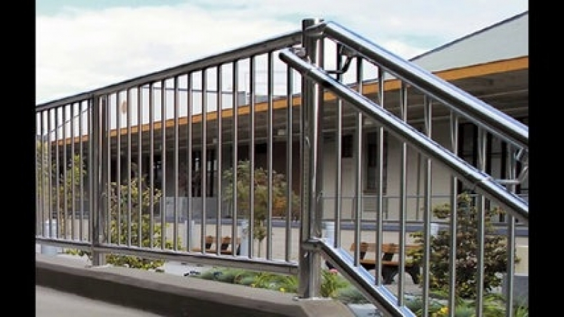 Orçamento de Guarda Corpo de Escada Inox Pedreira - Guarda Corpo Aço Inox Escovado