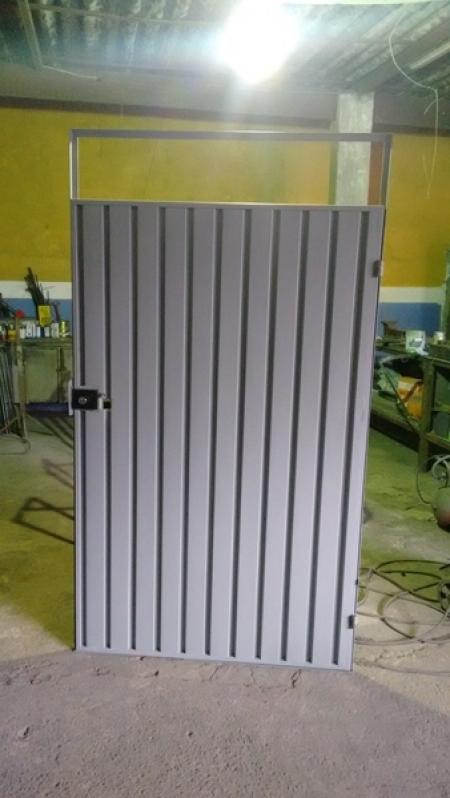 Portão Metálico Basculante Preço Embu Guaçú - Portão Metálico Basculante