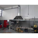 coifa industrial com exaustor