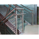 corrimão de inox para escada quanto custa Jardim Santa Terezinha
