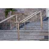 corrimão de inox para escada na Vila Clementino