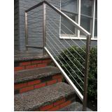 corrimão para escada de inox preço em Jandira