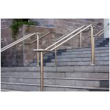 corrimão de escada de ferro galvanizado