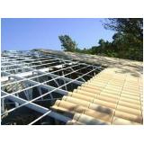 estrutura metálica para telhado de varanda orçamento Cidade Patriarca