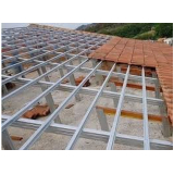 estrutura metálica para telhado embutido Amparo