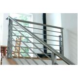 guarda corpo de ferro para escada valores Vila Marcelo