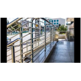 guarda corpo de inox para escada preço na Vila Esperança