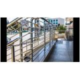 guarda corpo de inox para escada preço na Água Funda