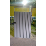 portão metálico para garagem preço Taboão da Serra