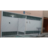 portão metálico para garagem valor Jardim Europa