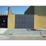 portão metálico para garagem Bauru