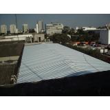 telhado de garagem metálico Jardins