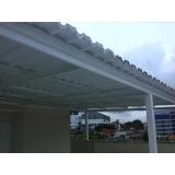 telhado metálico para galpões cotação Pedreira