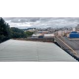 telhado metálico termoacústico valor Jabaquara