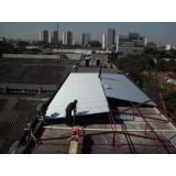 telhado residencial com estrutura metálica